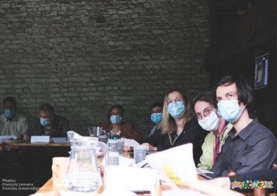 Simon Notté, Xavier Desgain, Julie Patte et les représentants du comité de quartier