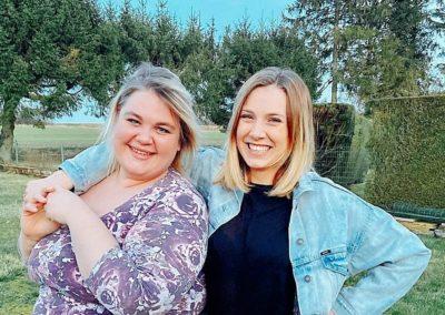 Amélie (à droite) et Marie-Cha (à gauche) de Badass